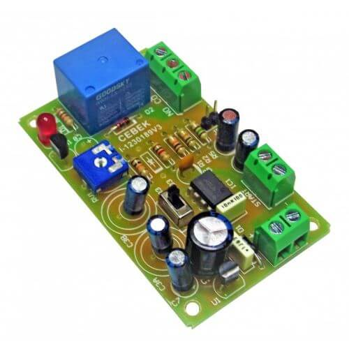 24Vdc Delay Timer Relay Module, 0.1 to 240 Seconds