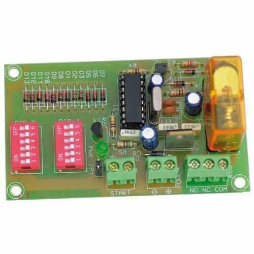 12Vdc Cyclic Timer Relay Module, 15 Sec to 60 Min