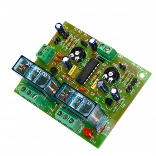 2-Channel Sequential Relay Timer Module, 1 to 180 second