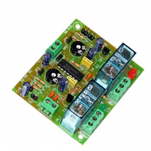 2-Channel Sequential Relay Timer Module, 2 to 45 Minute
