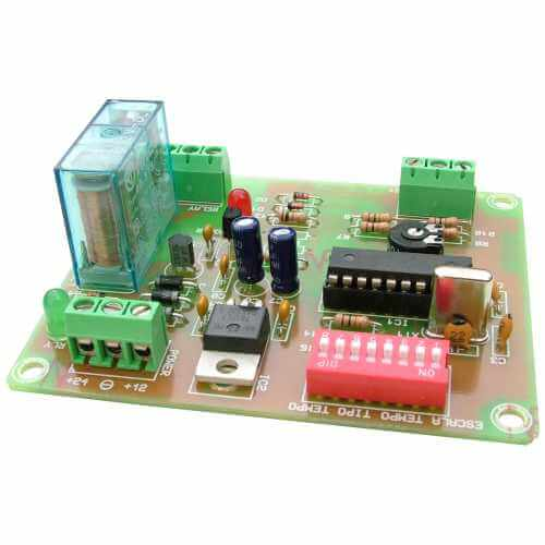 14-Mode Delay Timer Relay Board, 0.1 Sec - 60 Min