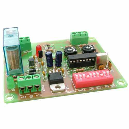 8-Mode Delay/Cyclic Timer Relay Module, 0.1 Sec - 60 Min