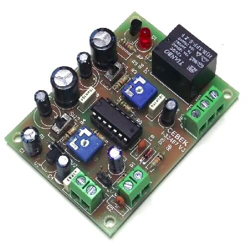 12Vdc DOUBLE Delay Timer Relay Module, 0.1 Sec to 4 Min