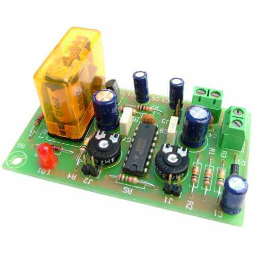 12Vdc DOUBLE Delay Timer Relay Module, 2 to 45 Minute