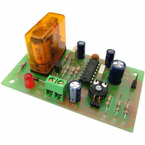 12Vdc Delayed-On Timer Relay Module, 2 to 45 Minute