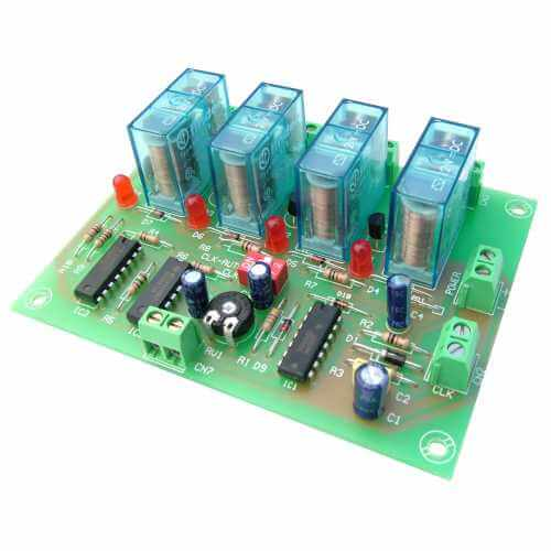 Cebek I-5 (CI005) - 4 Channel Sequential Controller Relay Module