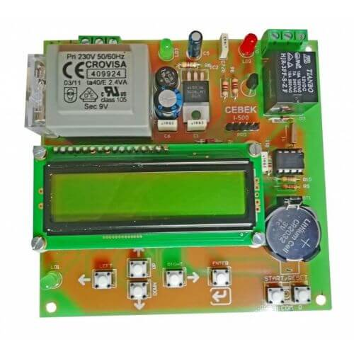 230Vac Weekly Programmable Timer LCD Relay Module