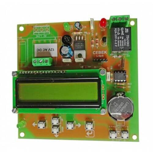 Cebek I-521 (CI521) - 12V Weekly Programmable Timer LCD Relay Module