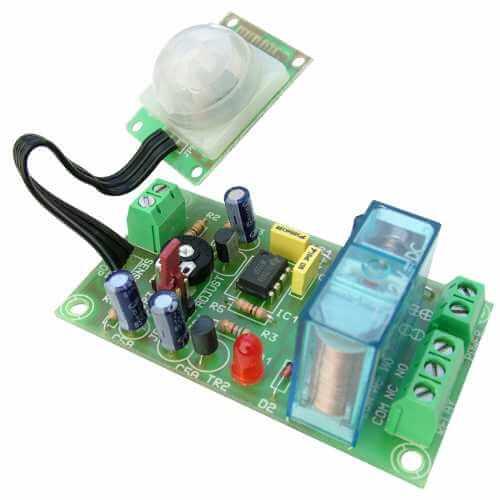 PIR Sensor Timer/Flip-Flop Relay Module