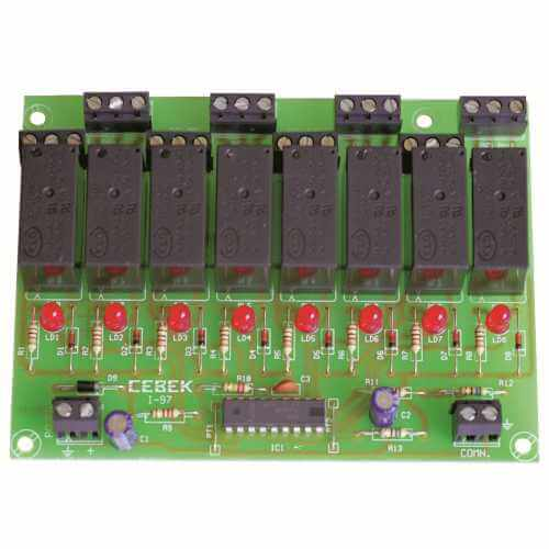 Cebek I-97 (CI097) - 8-Channel Multiplexed Remote Control Relay Receiver