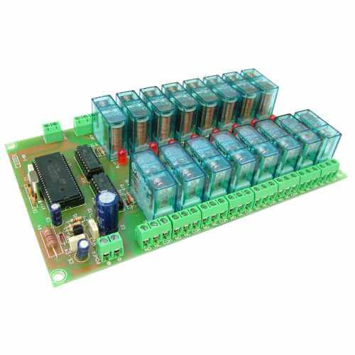 16-Channel Multiplexed Remote Control Relay Receiver