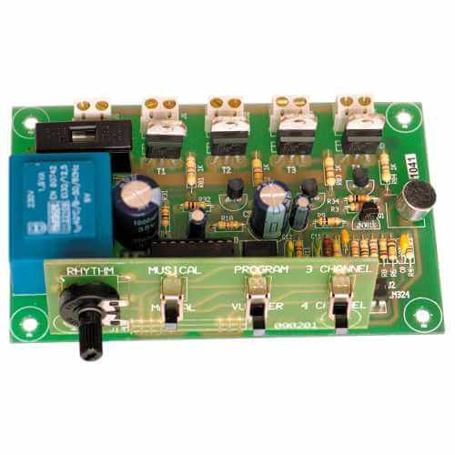 Cebek L-11 (CL11) - 230Vac 4-Channel Mini Light Organ Module