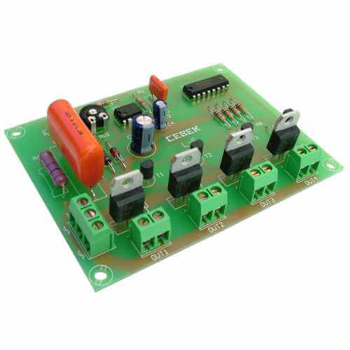 Cebek L-5 (CL05) - 230Vac 4 Channel Light Chaser Module