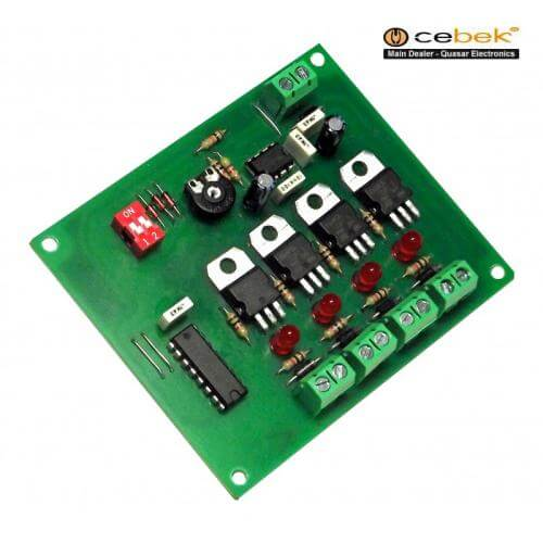 12Vdc 4-Channel Sequential LED Strip Light Controller Module