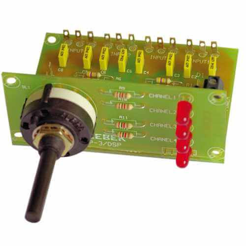 Cebek P-3 (CP03) - 4-Way Stereo Input Audio Selector Module