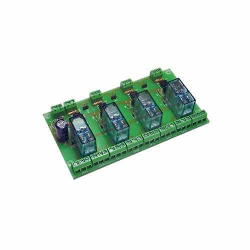 Cebek T-21 (CT021) - 12Vdc 4-Channel Isolated IO DPDT Relay Board Module
