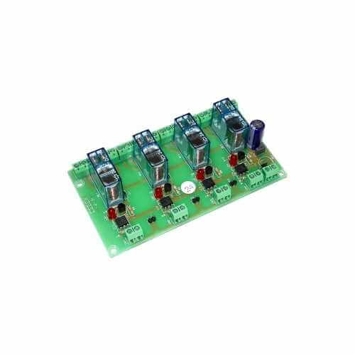 24Vdc 4-Channel Isolated IO DPDT Relay Board Module