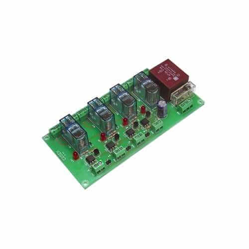 Cebek T-41 (CT041) - 230Vac 4-Channel Isolated IO DPDT Relay Board Module