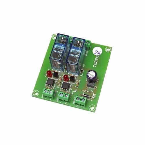 24Vdc 2-Channel Isolated IO SPDT Relay Board Module