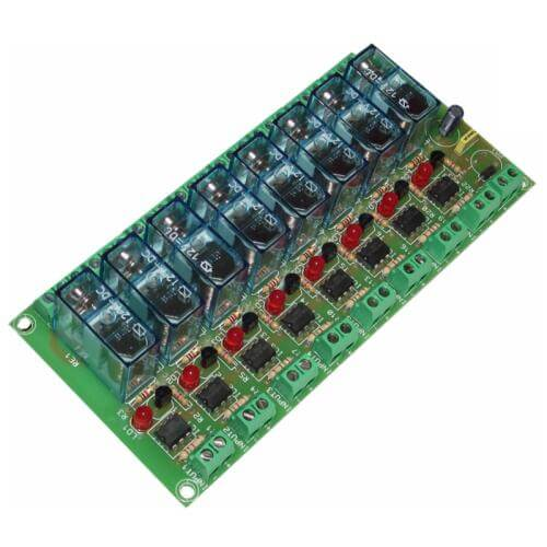 Cebek T-6 (CT006) - 8-Channel Isolated IO Relay Board Module