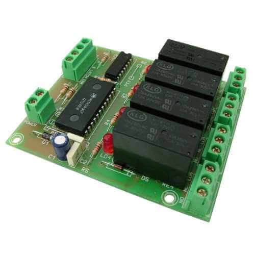 Cebek T-7 (CT007) - 4-Channel BCD Command Relay Board Module
