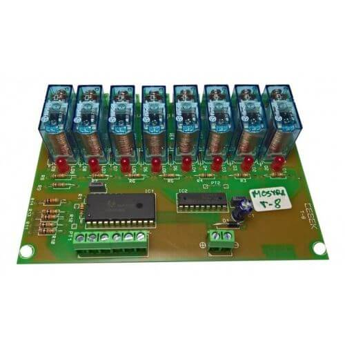 Cebek T-8 (CT008) - 8-Channel BCD Command Relay Board Module