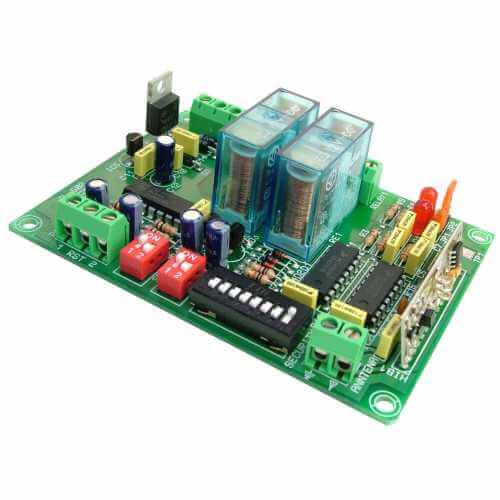 2-Channel Momentary / Toggle Relay Receiver Module, 12Vdc