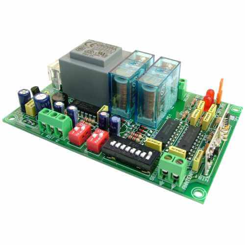 2-Channel Momentary / Toggle Relay Receiver Module, 230Vac