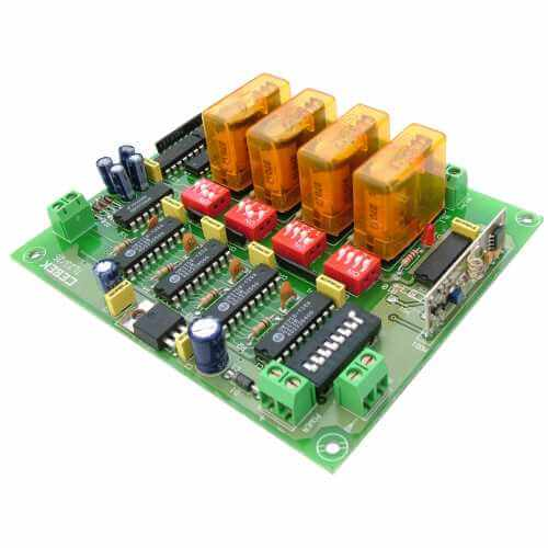 Expandable 4 Channel Toggle Relay Receiver Module, 12Vdc