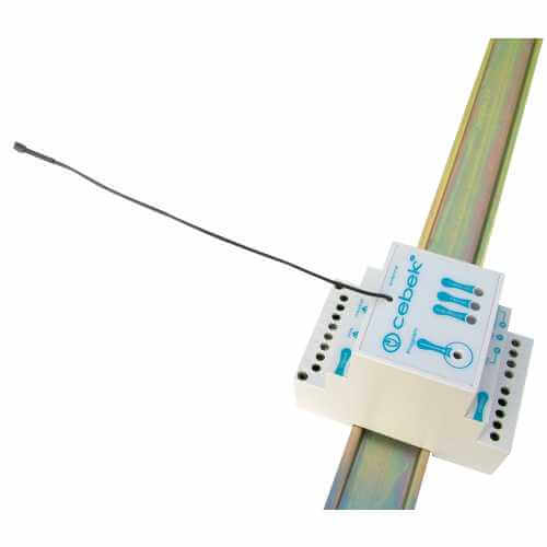 Cebek TL-312 (CTL312) - 1-Ch 230Vac DIN Rail Momentary / Toggle / Timer RF Receiver (Group 3)