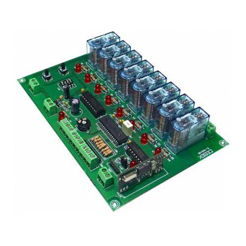 Cebek TL-423 (CTL423) - Expandable 8-Channel Momentary / Toggle / Timer Relay Receiver Module, 12Vdc (Group 3)