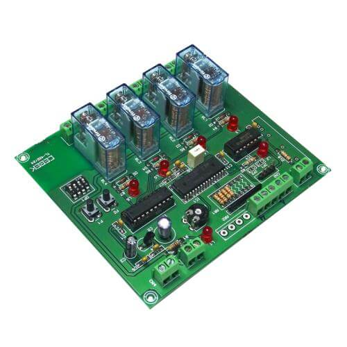 Cebek TL-424 (CTL424) - 4-Channel Slave Relay Expansion Module for TL-422/TL-423, 12Vdc (Group 3)