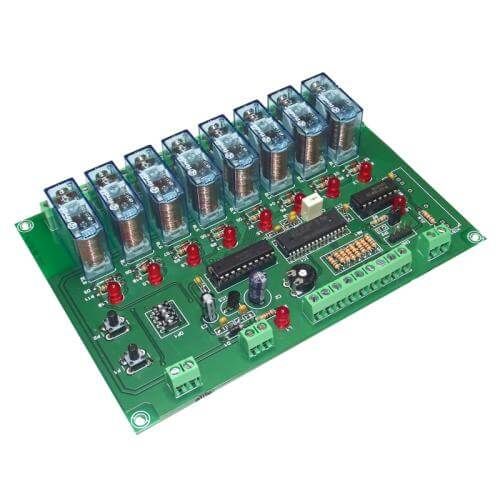 Cebek TL-425 (CTL425) - 8-Channel Slave Relay Expansion Module for TL-422/TL-423, 12Vdc (Group 3)