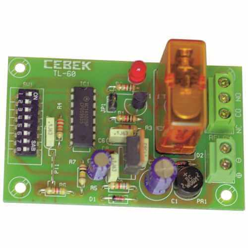 Cebek TL-60 (CTL060) - 1-Channel Multiplex Relay Receiver Module (Momentary Action)