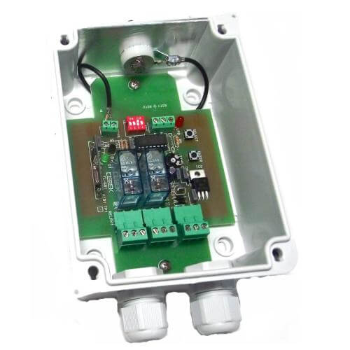 2-Channel IP55 Momentary / Toggle / Timer RF Receiver Module, 12/24Vdc (Group 3)