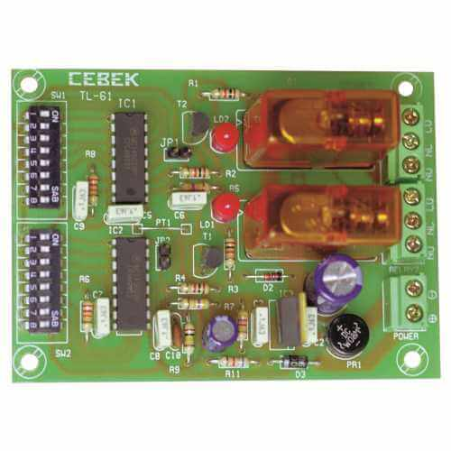 Cebek TL-61 (CTL061) - 2-Channel Multiplex Relay Receiver Module (Momentary Action)