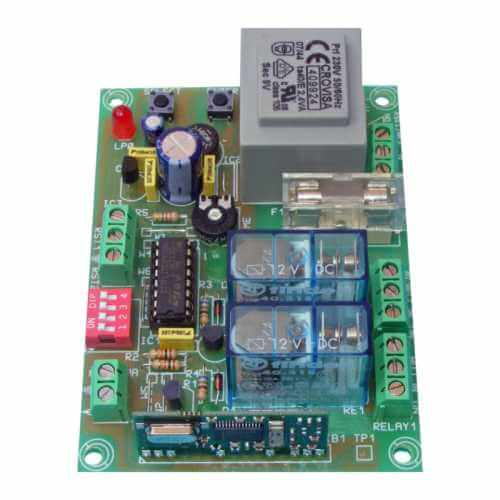 2-Channel Momentary / Toggle / Timer RF Receiver Module, 230Vac (Group 3)