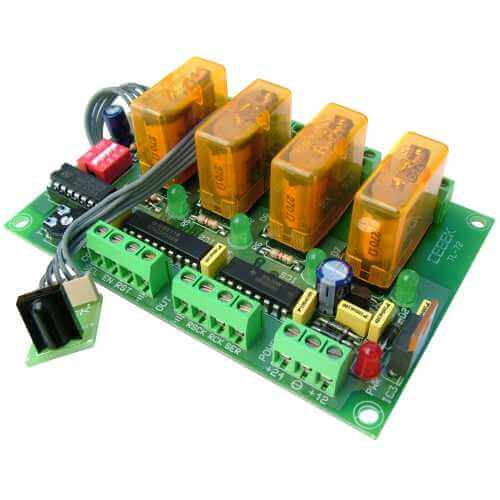 Cebek TL-72 (CTL072) - 4-Channel Infrared Relay Receiver Module