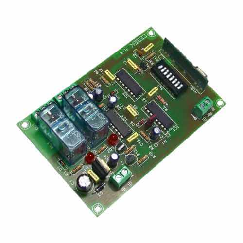2 Channel Toggle Relay Receiver Module, 12Vdc