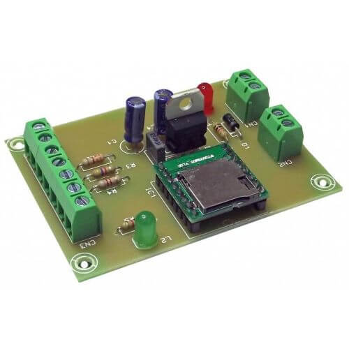 MP3 Player Module for Micro SD Card, 0.5W RMS