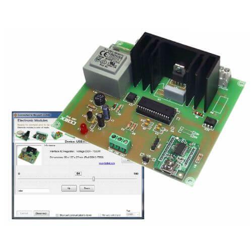 Computer Controlled AC Voltage Regulator, 0-230V, 1500W