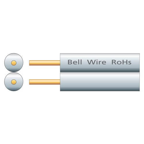 Figure 8 Bell Cable CCS, White, 100m Reel