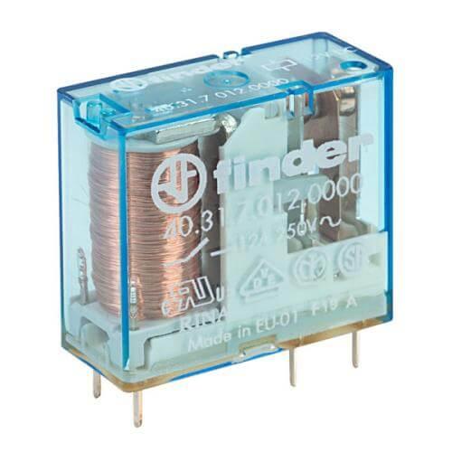 Finder 40.31 SPDT PCB Relay, 12V Coil