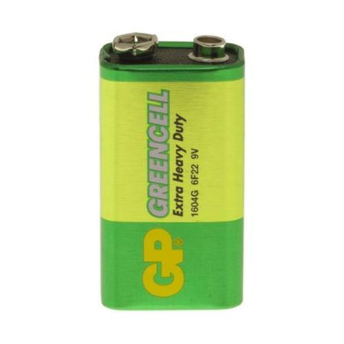 GP Greencell 9V, 6F22 PP3 Extra Heavy Duty Zinc Chloride Battery