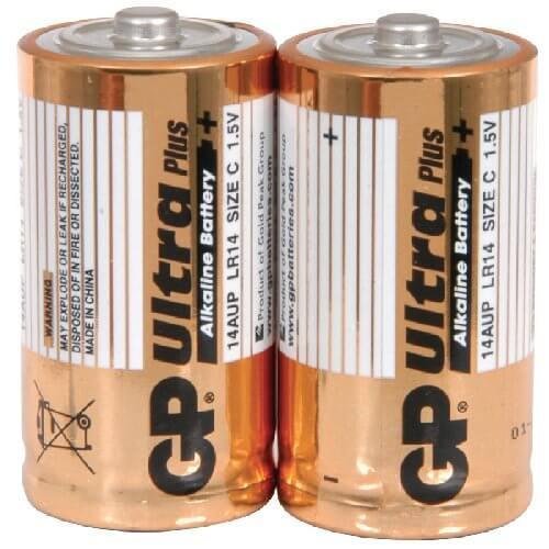 GP Ultra Alkaline 1.5V C (LR14) Batteries (2 Pack)