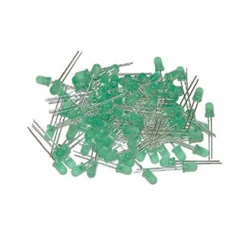Pack of 30 x 5mm Super Bright Green LEDs