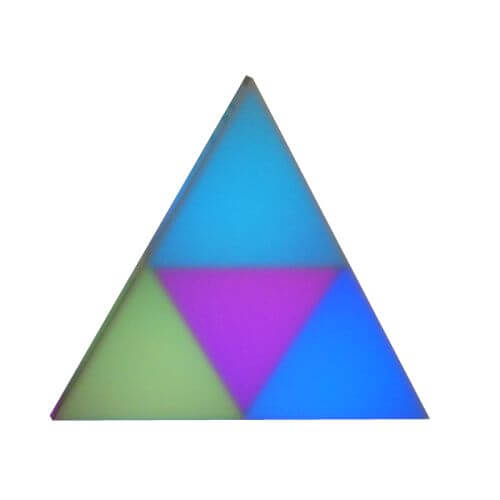 LED Deco Lighting Triangle, 26cm, 4 Planes, 36 LEDs