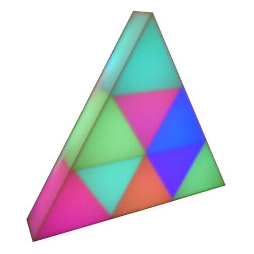LED Deco Lighting Triangle, 38cm, 9 Planes, 81 LEDs