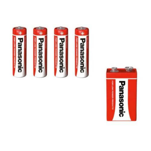 656.900UK, 656.904UK - Panasonic Zinc Carbon Batteries - AA and PP3