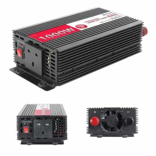 Power Inverter, 1000W Soft Start 12Vdc to 240Vac